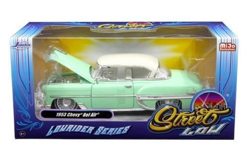 NEW 1:24 W/B JADA TOYS MiJo EXCLUSIVES COLLECTION - STREET LOW: LOWRIDER SERIES - Light Green 1953 Chevrolet Bel Air Diecast Model Car By Jada Toys ()