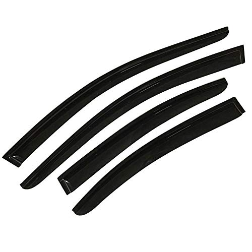S SIZVER Smoked Out-Channel Window Vent Guard Rain Visors Compatible with 2009-2014 Nissan Maxima