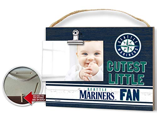 (KH Sports Fan Clip It Colored Baby Logo Photo Frame Seattle Mariners )