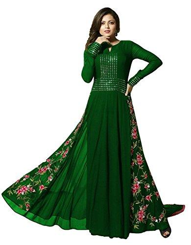 (BRIDALCOLLECTION Women's LT-1002 Pakistan Salwar Kameez Free Size Green)