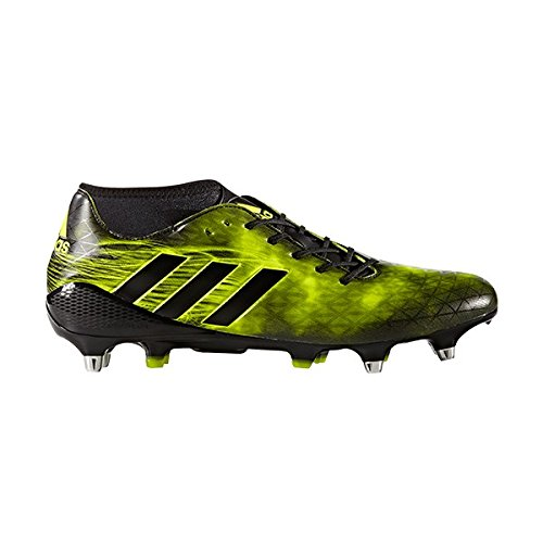 Adidas SS17 Adizero Malice SG Rugby Boots - Black/Yellow - UK 10.5 by adidas