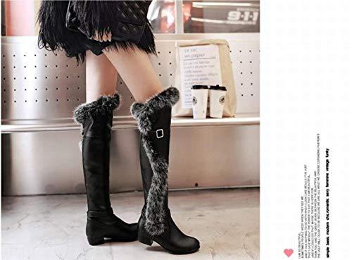 sci Anti Ginocchio Velluto Donna Il Stivali 42 A Nero Con Caldi Da Tacco stivali Xe stivali Stivali Scarpe 34 Di E Basso Invernali p7HCE8q