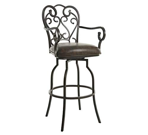 Wood & Style Furniture Bar Stool Bronze Home Bar Pub Café Office - Suede Bar Stool Bronze