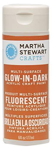Martha Stewart Crafts Martha Stewart Glow-in-The-Dark Orange, 6 oz -