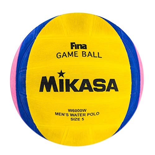 Mikasa 2012 London Olympic Water Polo Game Ball (Yellow/Blue/Pink, Size - Nfhs Leather Yellow