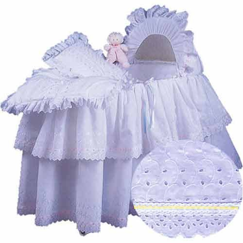 aBaby Little Angel Bassinet Skirt, Yellow, Small