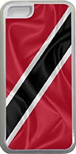 Rikki KnightTM Trinidad and Tobago Flag Design iPhone 5c Case Cover (Clear Rubber with bumper protection) for Apple iPhone 5c