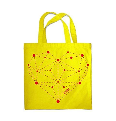 Jaune Sac plage sac Fashion VALENTIN 0093 Shopping Coeur de Constellation Colour SAINT wHUfSYqYP