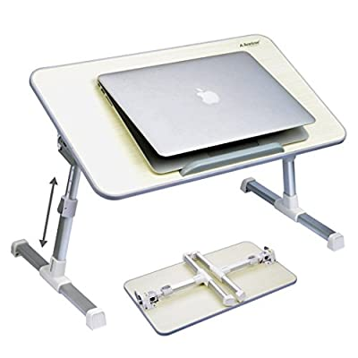 Avantree Quality Adjustable Laptop Table Bed Tray, Portable Standing Desk
