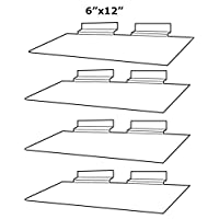 "Clear Slatwall Shelves 6"" x 12"" Set of 4 Retail Display"