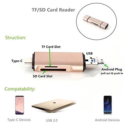 Memory Card Reader, dikesitu 2 in 1 Card Reader Micro SD Car