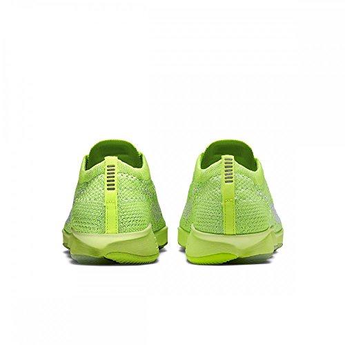 Nike Femme Zoom Fit Agilité Basse Top Lace Up Baskets Volt / Electric Vert / Vapeur Vert / Blanc