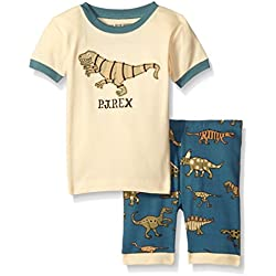 Little Blue House By Hatley Little Boys Short Pajama Set-Blue Dino, Cream, 2