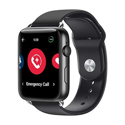 HandsFree Health Smart Watch for Seniors – Medical Alert Systems for Seniors & Elderly – Senior Alert System Smart Watch…