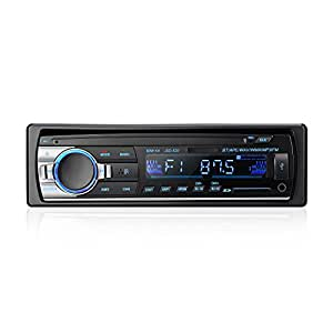 Bluetooth Car Audio Stereo Receiver - LESHP Bluetooth Car Stereo Audio Single DIN In Dash 12V FM Receiver 60Wx4 MP3 Radio Player with Remote Control