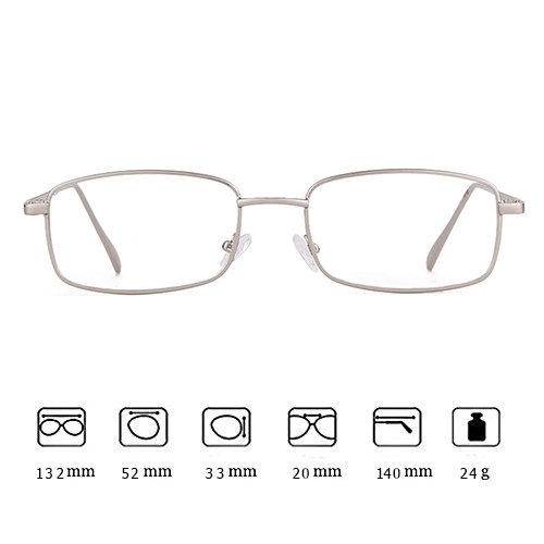 Lens Glasses Men for Clear Frame Square Silver Sunglasses Fashion ADEWU Women Retro Hxwzaq6c7