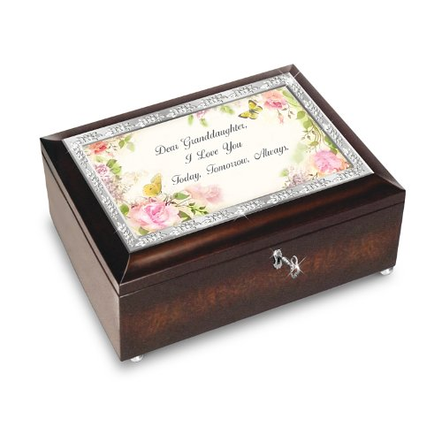 Granddaughter, I Love You Always Heirloom Music Box by The Bradford Exchange
