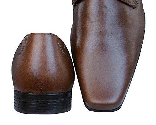 Ruban Rouge Kingston Marron hommes en cuir de chaussures
