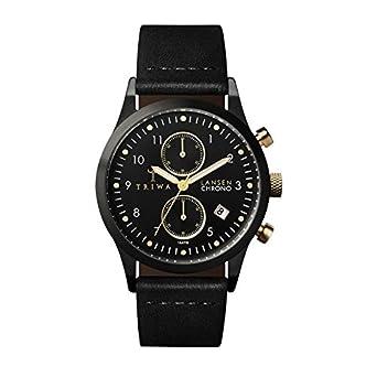 TRIWA Midnight Lansen Chrono Armbanduhr schwarz LCST108_CL010113