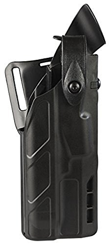 (SAFARILAND (SAFARILAND) Model 7360 7TS ALS/SLS Mid-Ride, Level III Retention Duty Holster, Fits Glock 17/22 with IT M3 Light, Right Hand, Plain Black Finish)
