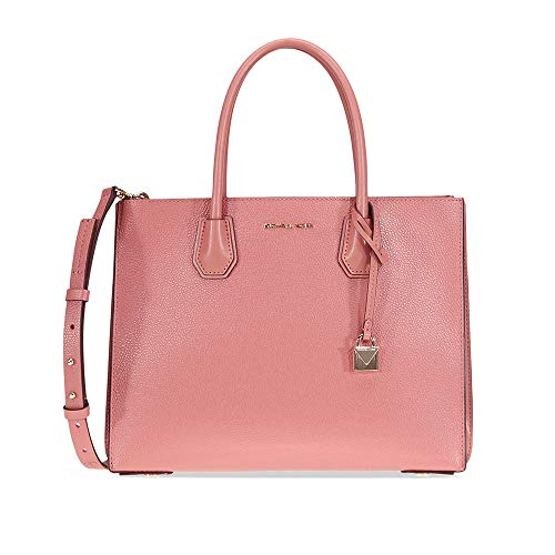 Michael Kors Mercer Large Pebbled Leather Tote - Rose