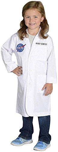 [Aeromax Jr. NASA Rocket Scientist Lab Coat, White, size 6/8] (Scientist Costume)