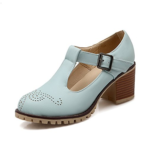 Femme Boucle Bleu Out shoes balamasa Imitation Hollow cuir pumps FZqqdAHwx