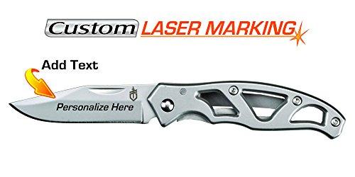 Gerber Mini Paraframe Frame Lock - Custom Laser Engraved Knife - Gerber Paraframe Mini Fine Edge (22-48485)