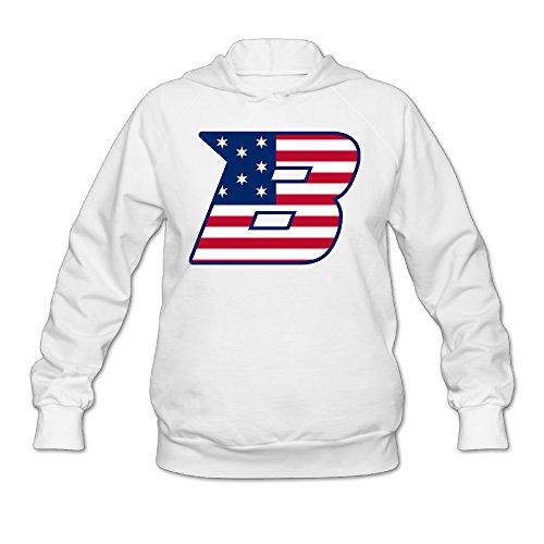 CYANY Boise State University BSU Broncos Mascot Buster Women's Graphic Hoodies Hooded Sweatshirt XXLWhite