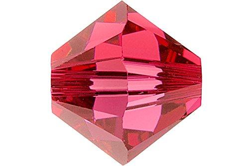 Swarovski Crystal, #5328 Bicone Beads 4mm, 24 Pieces, Indian ()