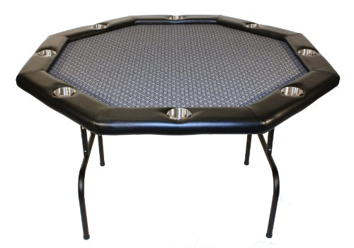 Texas Holdem Poker Table w/ Stainless Cup Holders, Suited Speed Cloth, with Folding Table Legs 48''x48''x30''high - Platinum by Texas Holdem