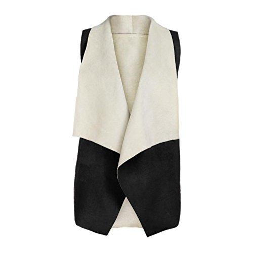 men Waistcoat Fox Fur Jacket Winter Outwear Warm Gilet Vest ()