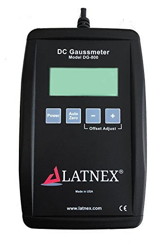 LATNEX DG-800 Professional DC Gauss Meter Measures Strength and Polarity of Magnetic Fields up to 799.99 Gauss - Source Such as Magnet