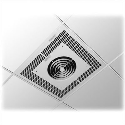 TPI Y3485A1 3480 Series Commercial Fan Forced Recessed Mounted Ceiling Heater, Three Phase, 5KW, 480V 3PH 6.1A, White