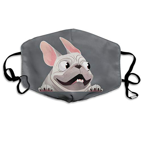 SyjTZmopre French Bulldog Mouth Mask Unisex Printed Fashion Face Anti-dust Masks -