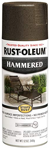 - Rust-Oleum 7218830 Hammered Metal Finish Spray, Dark Bronze, 12-Ounce