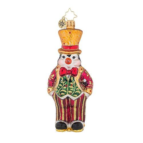 Christopher Radko Pinstripe Penguin Animal Christmas Ornament (Christmas Ornaments Pinstripe)