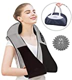 Shiatsu Neck and Back Massager with Heat - 3D Electric Deep Tissue Kneading Self Handheld for Neck-Back Shoulder Arm Leg Upper Down - Foot Massage Ball for Body Muscle Pain Portable Car