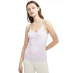 Tank Tops White Cashmere 2018 Spring Autumn Spaghetti Strap Soft Skin Friendly Sexy Slim V Neck White L