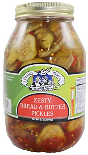 Amish Wedding Zesty Bread & Butter Pickles, 32 Ounce ()