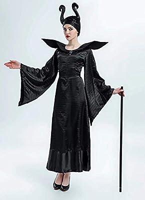 KIRALOVE Disfraz de maléfica - Bruja Malvada - maléfica - Bella Durmiente - Mujer - niña - Disfraz - Carnaval - Halloween - Cosplay - Accesorios - Talla l: Amazon.es: Juguetes y juegos