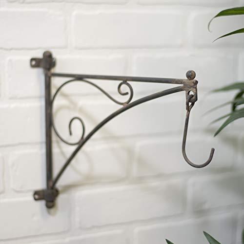 Metal Wall Bracket with Hook, - Plant Bracket Swivel