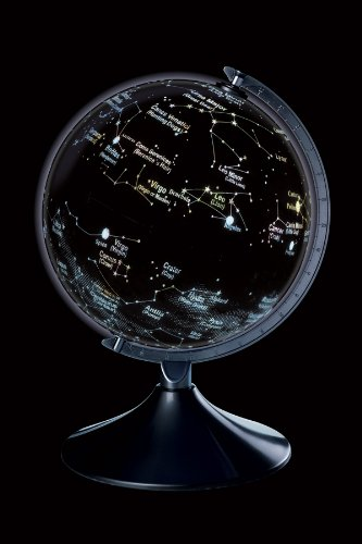 brainstorm 2 in 1 Earth and Constellation Globe with Light Sensor