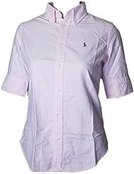 Ralph Lauren Womens Short Sleeve Oxford Button Down Shirt