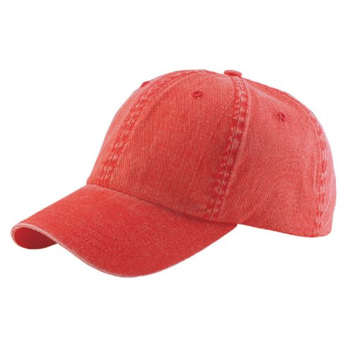 Wholesale Low Profile Dyed Soft Hand Feel Cotton Twill Caps Hats (Red) - 21204 -