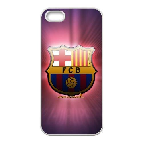 Fcb 004 coque iPhone 5 5S Housse Blanc téléphone portable couverture de cas coque EOKXLLNCD11979