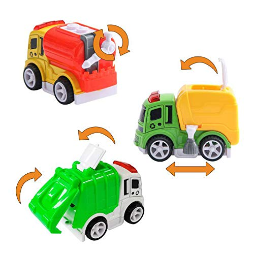 Tarpul Toy Cars Toy Vehicle Street Sweeper Truck Water Spray Truck Garbage Truck