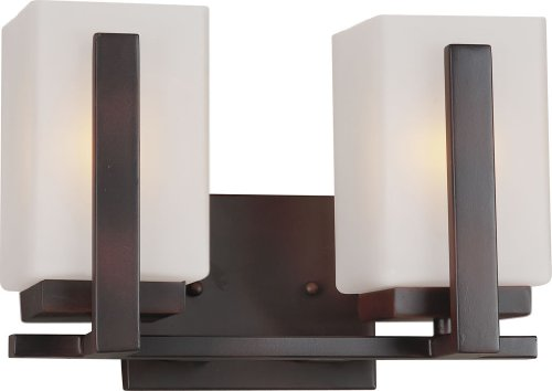 Bath Bracket Forte Lighting - Forte Lighting 5087-02 2 Light Bathroom Vanity, Antique Bronze