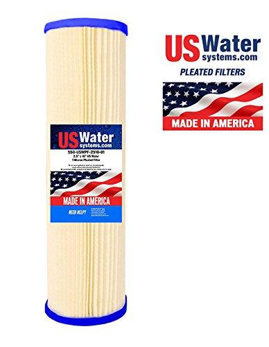 US Water 2.5 x 9.75 Pleated Filter Cartridge 1 Micron