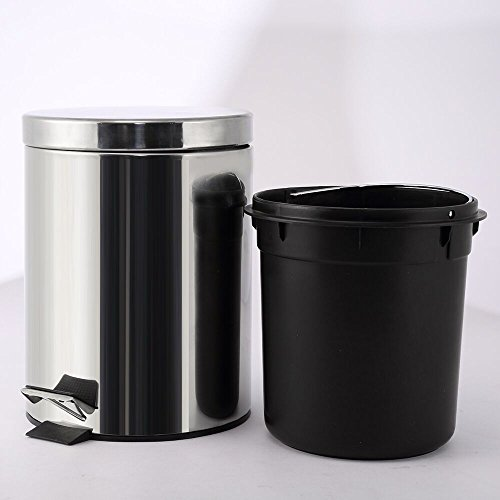 stainless steel kitchen trash can stainless steel trash can step trash and recycling bin 12040
